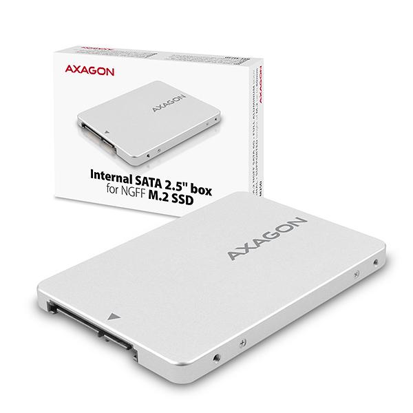 AXAGON RSS-M2SD, SATA - M.2 SATA SSD, interní 2.5
