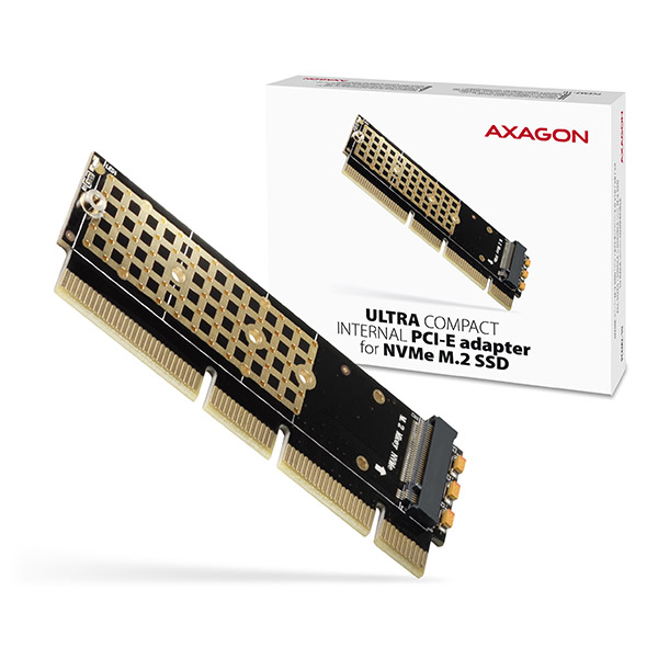 AXAGON PCEM2-1U, PCIe x16/x8/x4 - M.2 NVMe M-key slot adaptér, 1U