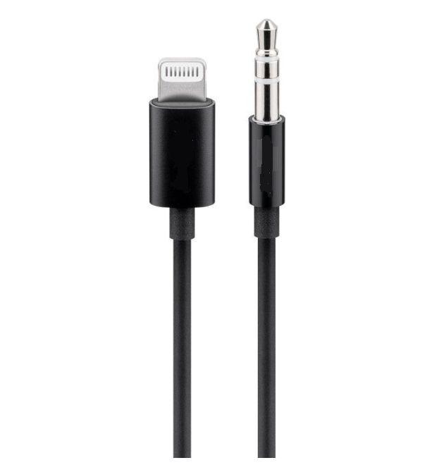 PremiumCord Apple Lightning audio redukční kabel na 3.5 mm stereo jack, 1 m, černý