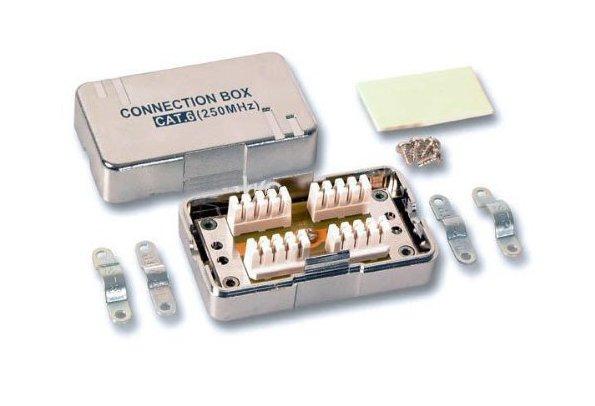 PremiumCord Propojovací box pro kabely Cat.6, narážecí, stíněný