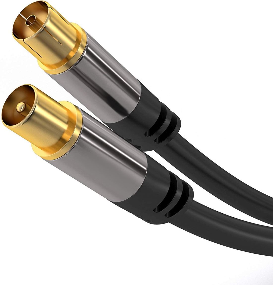 PremiumCord TV antenní HQ propojovací kabel M/F 75Ohm (135dB) 4x stíněný 5m