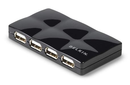 BELKIN USB HUB 2.0 7-port Travel Quilted, aktivní