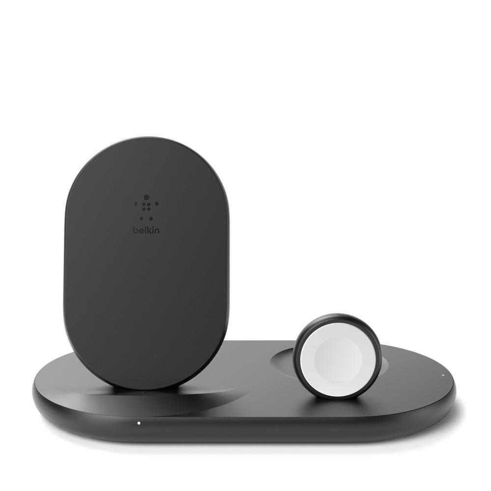 BELKIN Qi 3v1 nabíjecí stojan, černý (iPhone, Apple Watch, AirPods)