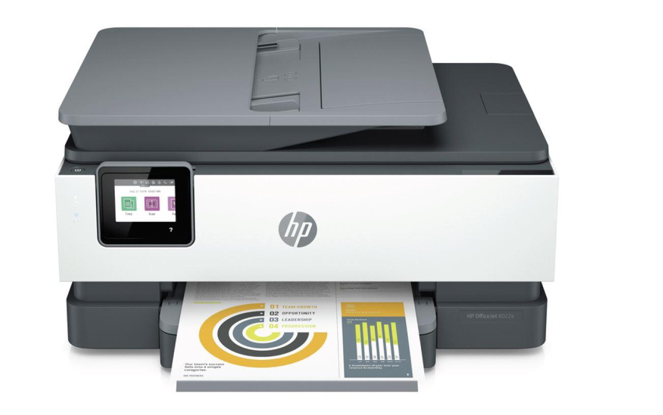 HP Officejet Pro 8022e (HP Instant Ink), A4 tisk, sken, kopírování a fax. 20/10 ppm, wifi, duplex