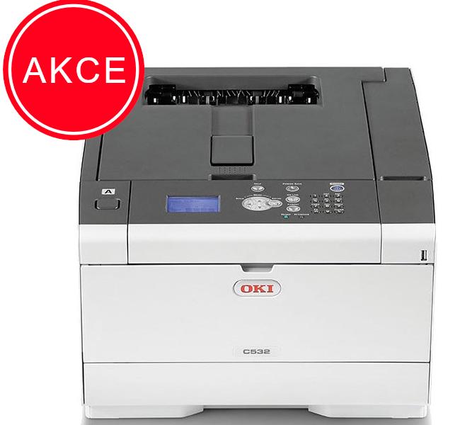 OKI C532dn A4,30/30ppm, 1200dpi, USB, LAN