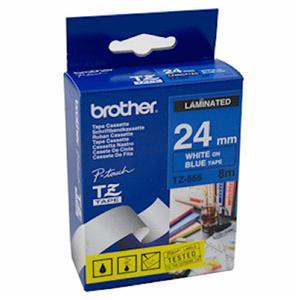 BROTHER TZE555 - kazeta TZ šířky 24mm, laminovaná TZE-555, modrá/bílé písmo