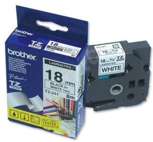 TZE-241,  bílá/černá, 18mm
