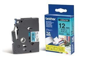 BROTHER TZE531 - kazeta TZ šířky 12mm, laminovaná TZE-531, modrá/černé písmo