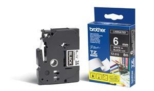 BROTHER TZE315 - kazeta TZ šířky 6mm, laminovaná TZE-315, černá/bílé písmo