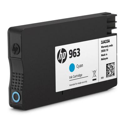 HP 963 ink.  azurová (3JA23AE)