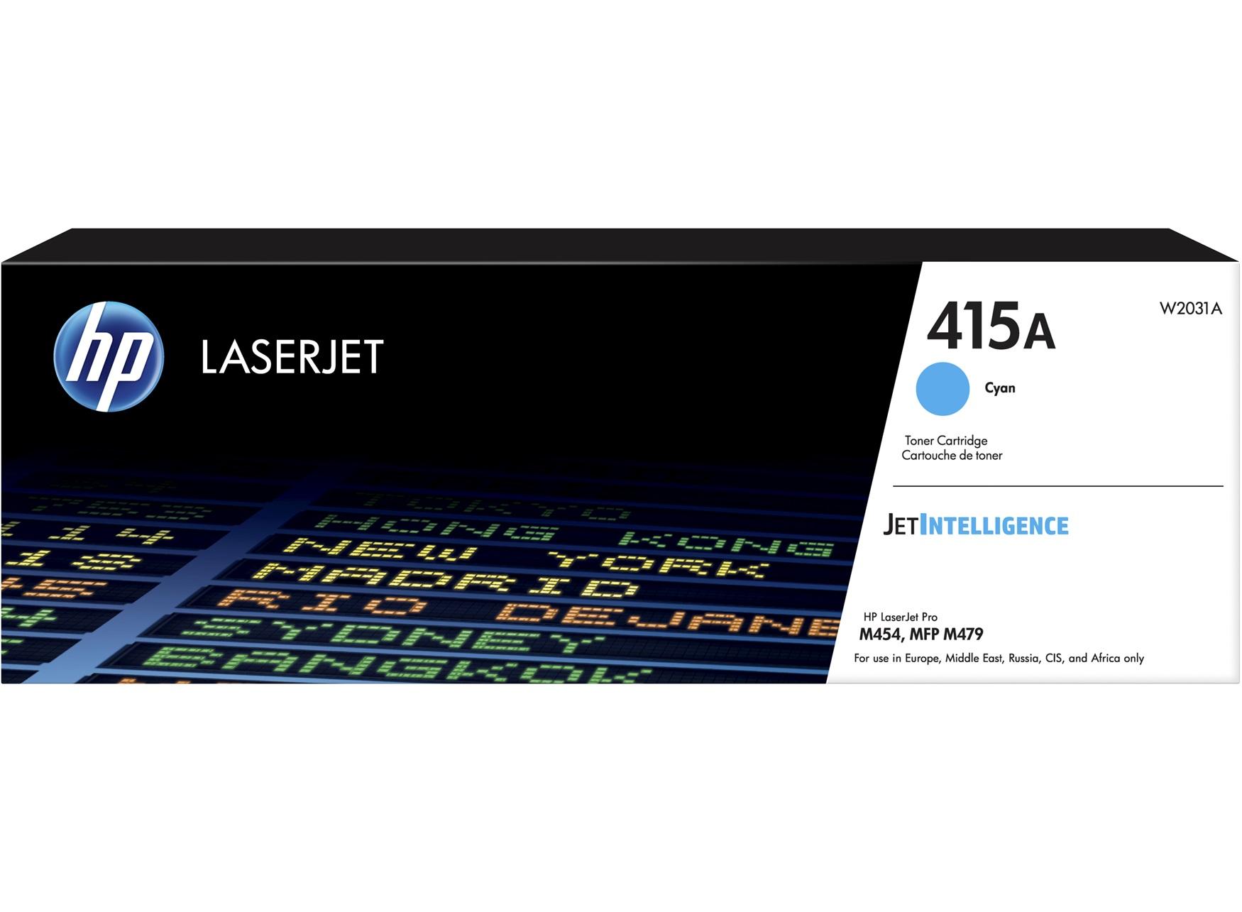 HP 415A Cyan LaserJet Toner Cartridge, W2031A