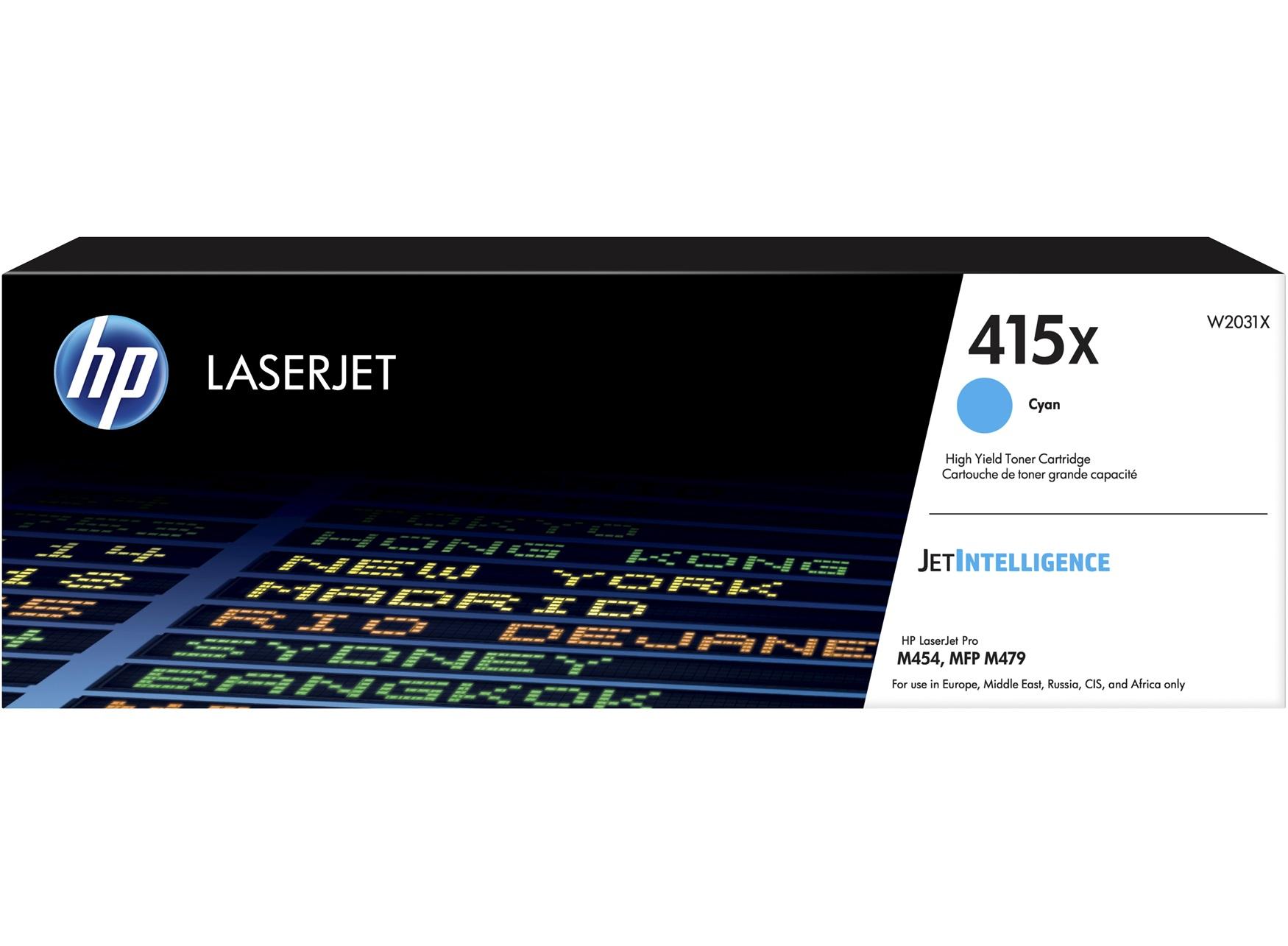 HP 415X Cyan LaserJet Toner Cartridge, W2031X