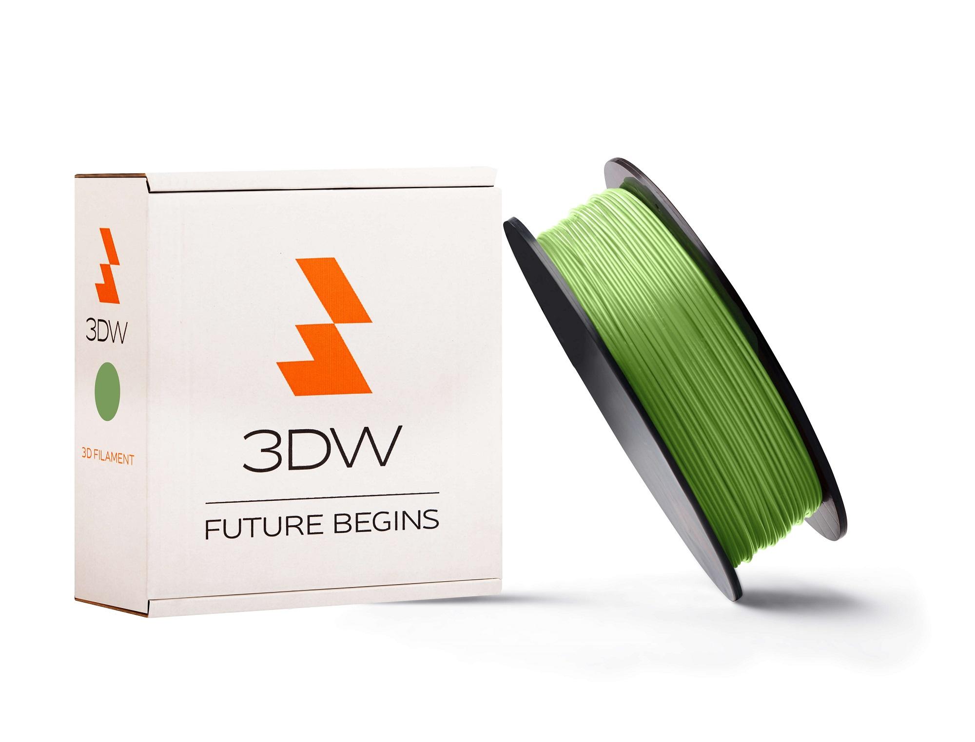 3DW - ABS filament 1,75mm fluozelená, 1kg,tisk 200-230°C