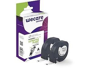 WECARE ARMOR páska pro DYMO S0721530, černá/průhledná, 2 mm x 12mm x 4m