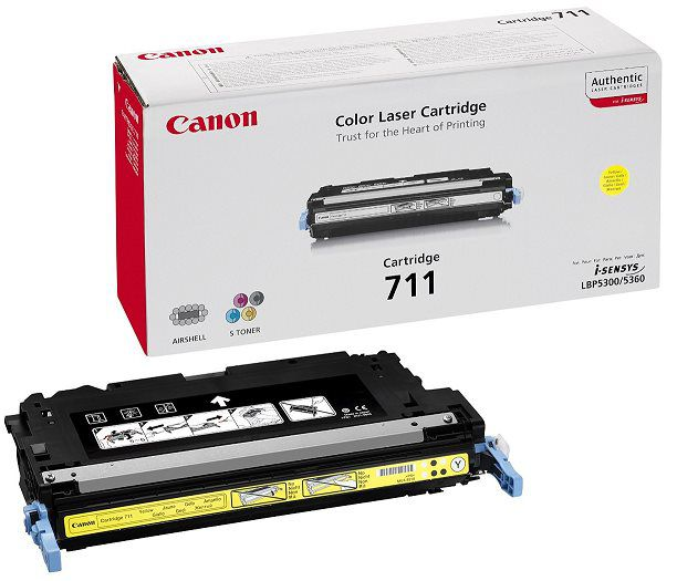 Canon LASER TONER yellow CRG-711Y (CRG711Y) 6 000 stran*