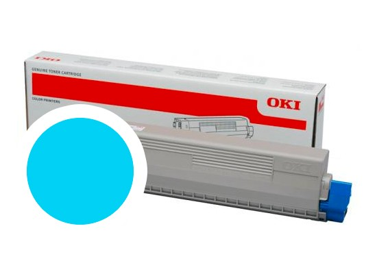 OKI cyan toner do C824/C834/C844 (5 000 stran)