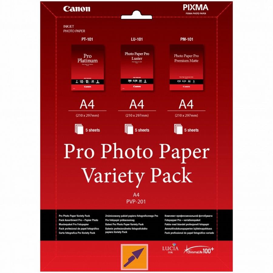 Canon PVP-201 PRO, A4 fotopapír Variety Pack