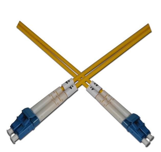 Optický patchkabel duplexní, LC-LC 9/125um SM, 5m, OS2