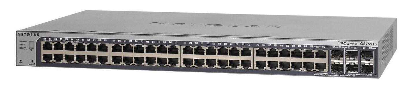NETGEAR 52x GB Stack. SmartSwitch+6x SFP, GS752TSB