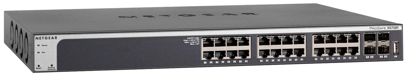 NETGEAR 28PT 10G SMART SWITCH W/4 SFP+, XS728T