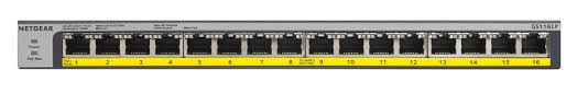 NETGEAR 16-port 10/100/1000Mbps Gigabit Ethernet, GS116LP