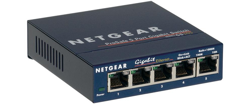 NETGEAR 5xGIGABIT Desktop switch, GS105