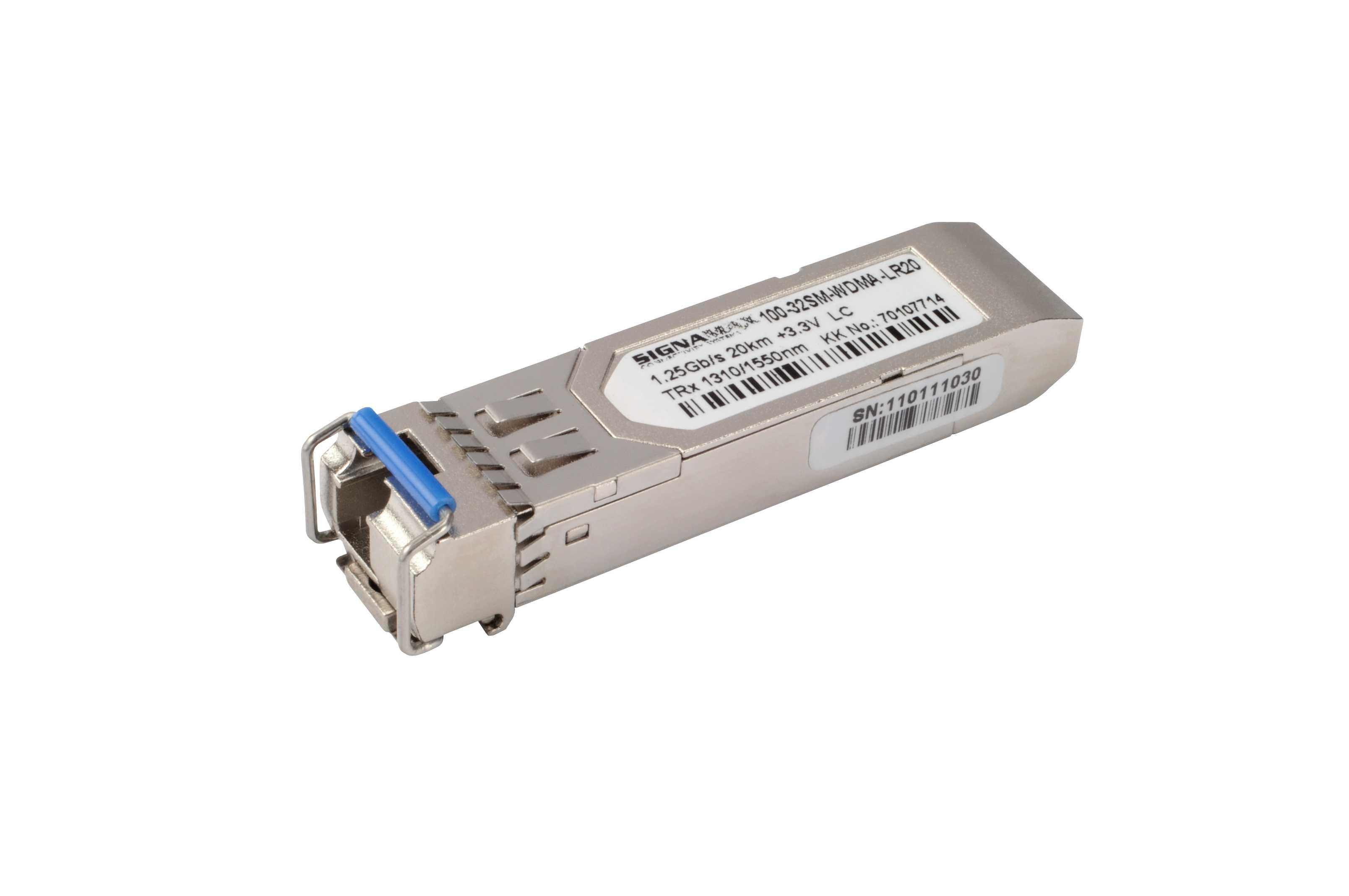 Signamax 100-32WDMA-LR20 1G SFP optický WDM modul SM 1310nm LC, 20km, DDM - Cisco komp.