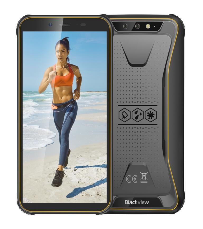 iGET Blackview GBV5500 Plus Yellow odolný telefon, 5,5