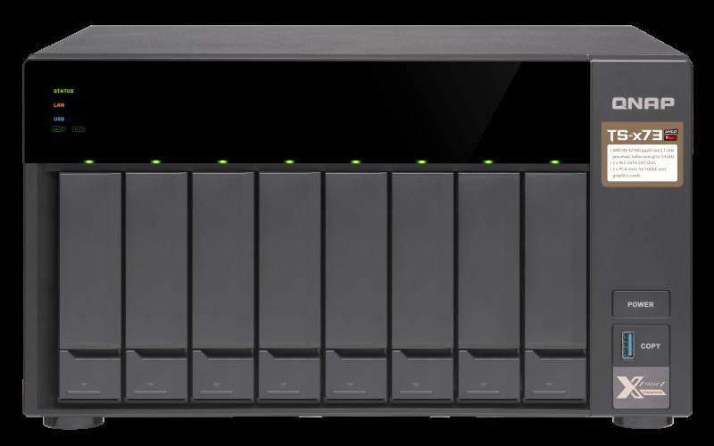 QNAP TS-873-8G (3,4GHz / 8GB RAM/8x SATA/2x M.2 SSD slot/2x PCIe/4x GbE/podpora GPGPU) -SLEVA 10%!