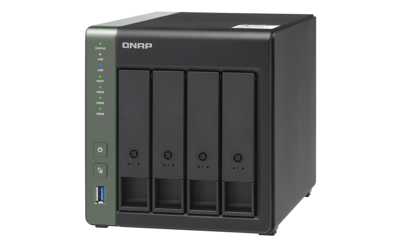 QNAP TS-431X3-4G (1,7GHz / 2GB RAM / 4x SATA / 1x GbE / 2x 2,5GbE / 1x 10GbE SFP+ / 3x USB 3.2)