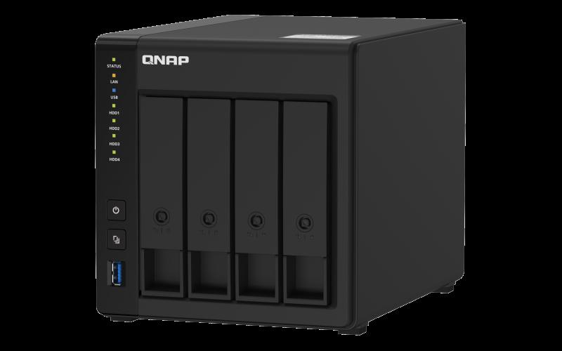 QNAP TS-451D2-2G (Celeron 2core  J4025 2,9GHz / 2GB RAM / 4x SATA / 1xHDMI 4K / 2x GbE / 4x USB 3.2)