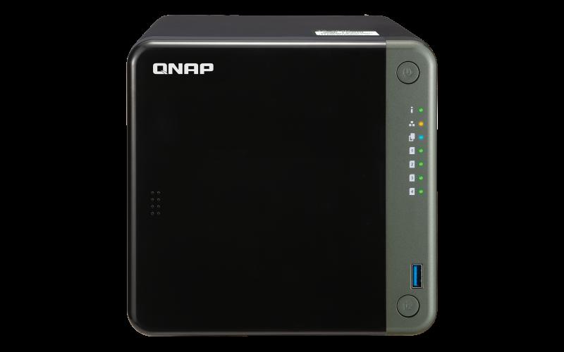 QNAP TS-453D-8G (2,7GHz / 8GB RAM / 4x SATA / 1xHDMI 4K / 1xPCIe / 2x2,5GbE / 3xUSB 2.0 / 2xUSB 3.2)