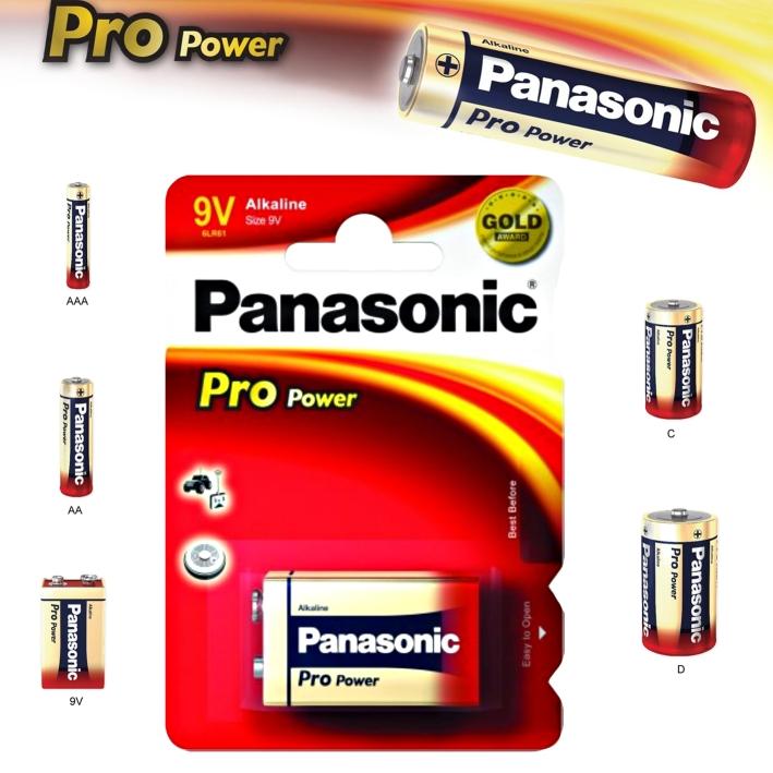Alkalická baterie 9V Panasonic Pro Power 6LR61