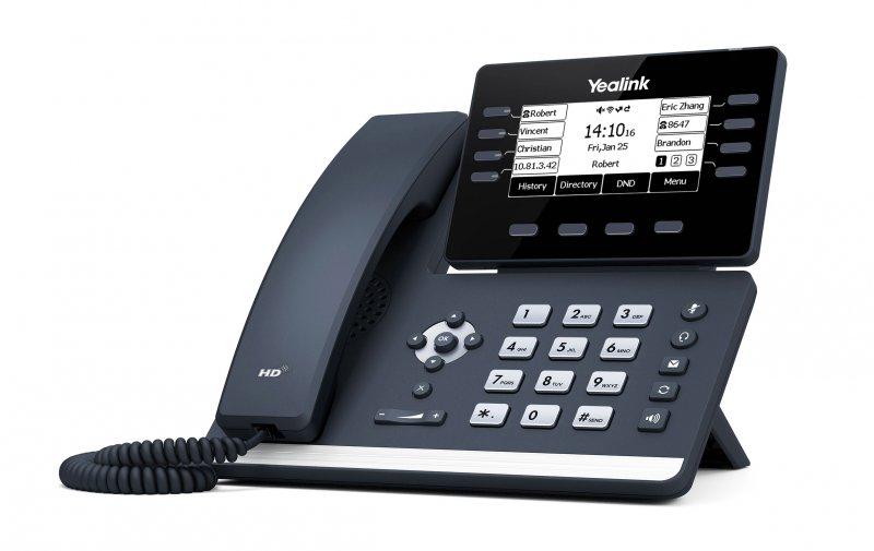 Yealink SIP-T53W IP. Tel., PoE, 3,7 bar. LCD, 8 prog. tl