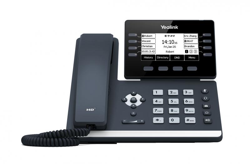 Yealink SIP-T53 IP. Tel., PoE, 3,7 bar. LCD, 8 prog. Tl