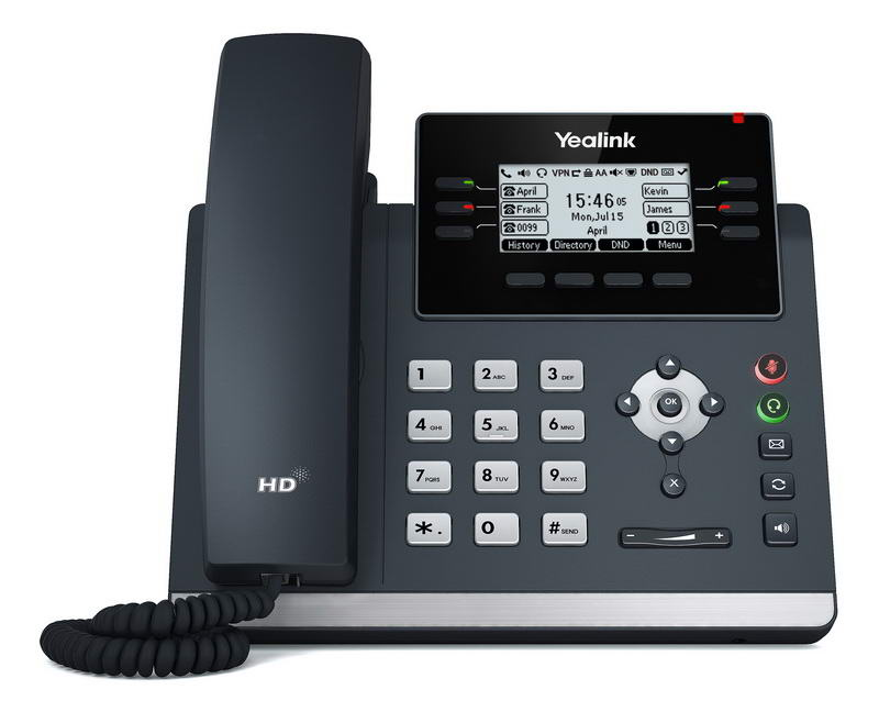 Yealink SIP-T42U SIP telefon, PoE, 2,7