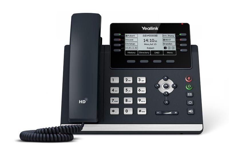 Yealink SIP-T43U SIP telefon, PoE, 3,7