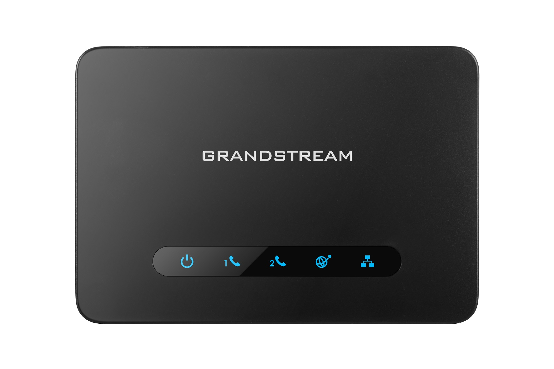 Grandstream HT812 (ATA), 2x FXS, 2 SIP účty, 1x Gbit LAN, NAT router, 3-cestná konf., auto-provisi.