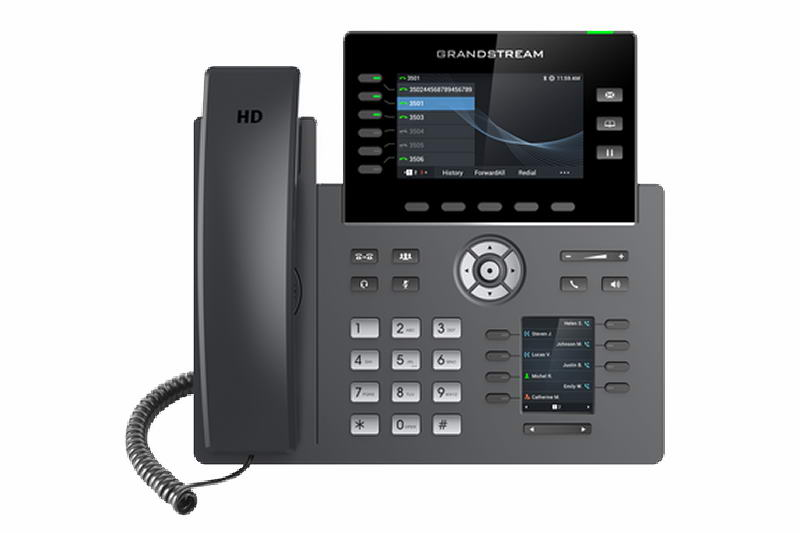 Grandstream GRP2616 SIP telefon, 2xdisplej, 4.3