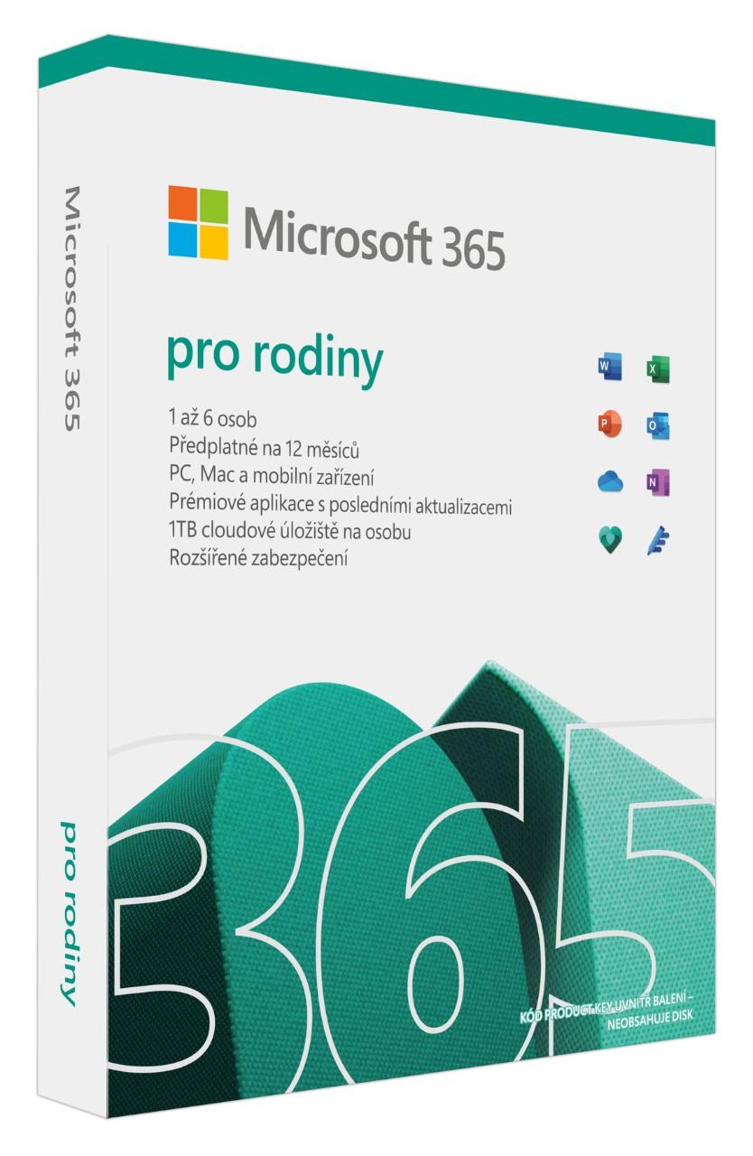 Microsoft 365 Family P8 Mac/Win, 1 Rok, Eng