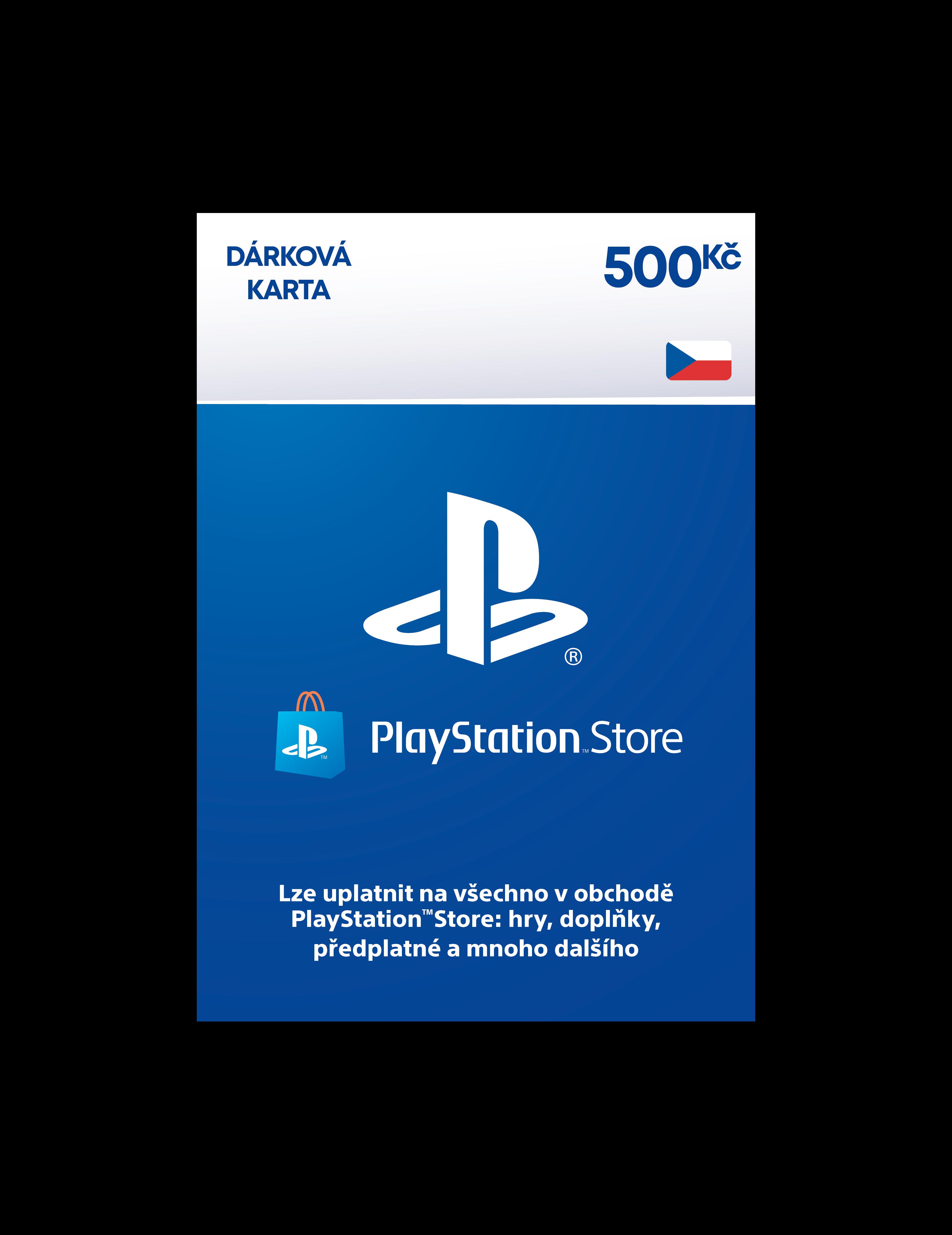 PlayStation Live Cards Hang 500Kč - pouze pro CZ PS Store