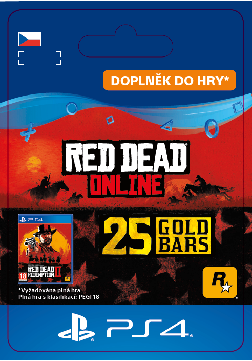 ESD CZ PS4 - Red Dead Online: 25 Gold Bars