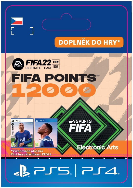 ESD CZ PS4 - FUT 22 – FIFA Points 12000