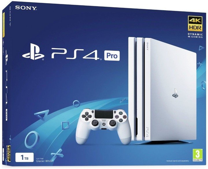PS4 Pro - Playstation 4 Pro 1TB White/Gamma chassi