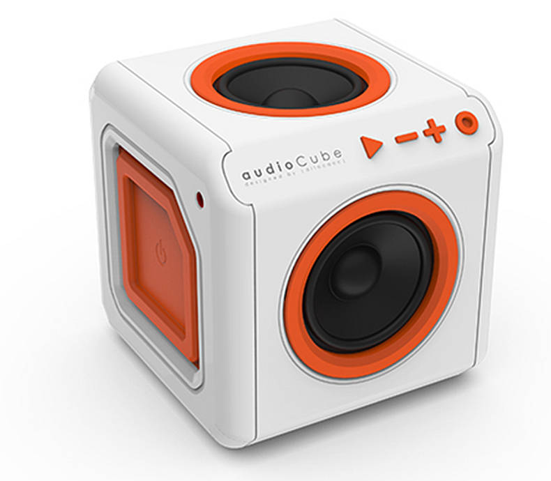 Repro přenosné PowerCube AUDIOCUBE, White - Orange