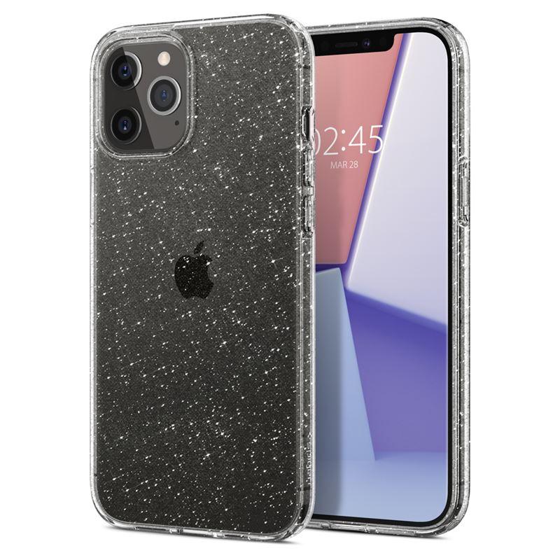 Ochranný kryt Spigen Liquid Crystal Glitter pro Apple iPhone 12/iPhone 12 Pro (6,1