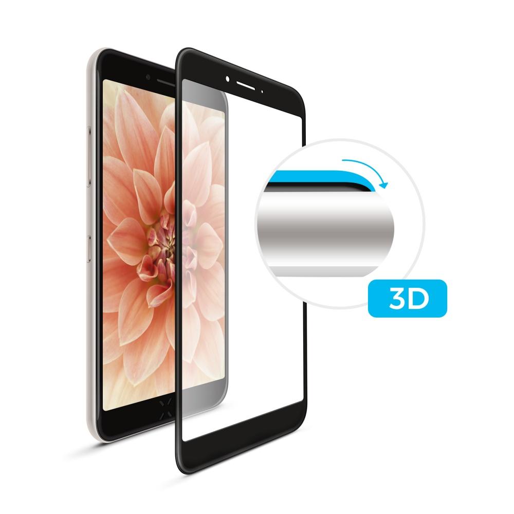 3D sklo FIXED iPhone 7/8/SE (2020), plné lepení, černé