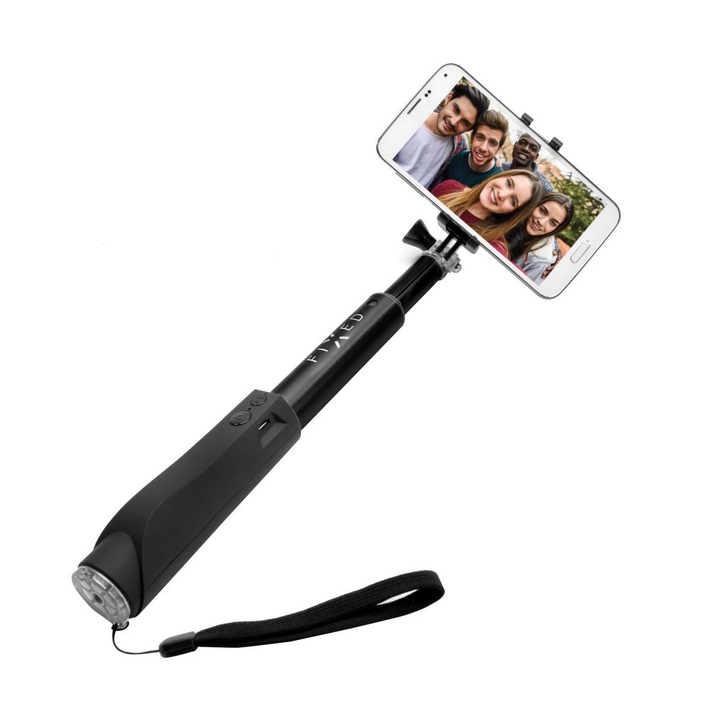 BT selfie stick FIXED, hliníkové provedení , černý
