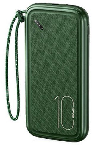 USAMS CD150 Powerbanka s Poutkem 10000mAh Dark Green