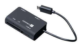 Čtečka karet + USB hub pro Samsung, micro USB